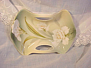 RS Prussia Hand Painted Hourglass Dish w/Reti (Image1)
