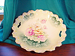 RS PRUSSIA O.H. STIPPLE FLORAL SHALLOW BOWL (Image1)