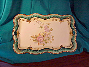 RS PRUSSIA OH DRESSER TRAY W/LILACS MOLD 343 (Image1)