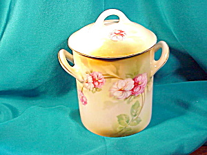 RS PRUSSIA HAND PAINTED COVERED JAM JAR (Image1)