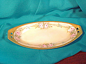 RS PRUSSIA HAND PAINTED OPEN HANDLED RELISH (Image1)