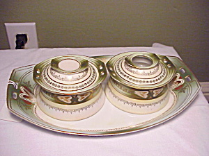 RS PRUSSIA TILLOWITZ ART DECO DRESSER SET (Image1)