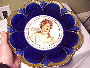Cobalt Queen Louise Empire China Plate