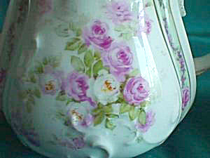 GORGEOUS THREE PIECE TEA SET WITH ROSES (Image1)