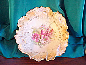 RS PRUSSIA CARNATION MOLD BOWL-GOLD TRIM (Image1)