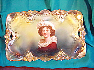 RS PRUSSIA LILY MOLD PORTRAIT O.H. TRAY (Image1)
