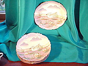 RS PRUSSIA SET OF SIX SWAN PLATES ACORN MOLD (Image1)