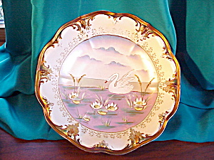 STUNNING RS PRUSSIA COPPER TIF.TRIM SWAN BOWL (Image1)
