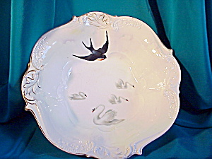 RS PRUSSIA LEAF MOLD SWALLOW AND SWANS BOWL (Image1)