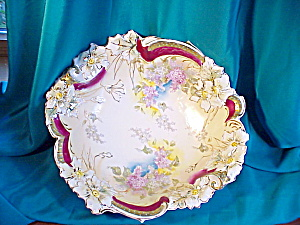 RS PRUSSIA(UM) STUNNING BLOWN FLORAL BOWL (Image1)