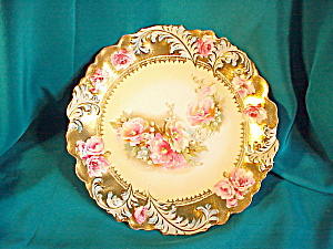 RS PRUSSIA(RM) PLUME MOLD GOLD TAPESTRY PLATE (Image1)