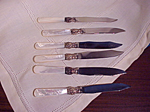 Mother Of Pearl Set Of Six Fruit Knives