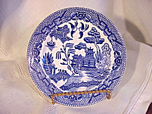 CHILDS TEA SET BLUE WILLOW PLATE (Image1)
