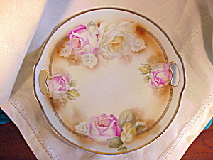 RS PRUSSIA O.H. PLATE WITH GOLD AND ROSES (Image1)