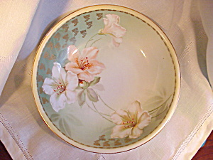 RS PRUSSIA H.P. STUNNING FLORAL BOWL/GOLD (Image1)