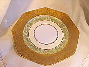 RS PRUSSIA OCTAGONAL GOLD/GREEN PLATE (Image1)