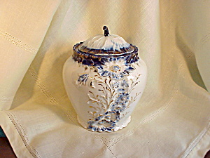 MAGNIFICENT RS PRUSSIA COBALT BISCUIT JAR (Image1)