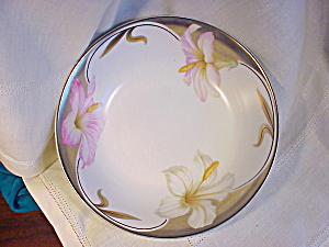 RS PRUSSIA BOWL/PINK AND WHITE LILIES (Image1)