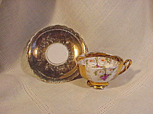 RS PRUSSIA HEAVY GOLD DAINTY CUP AND SAUCER (Image1)