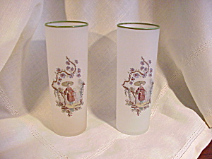 FROSTED ICED TEA GLASSES/JAPAN MOTIF (Image1)