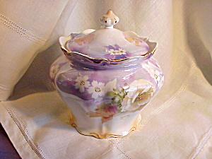 RS PRUSSIA (POLAND) IRIDESCENT BISCUIT JAR (Image1)