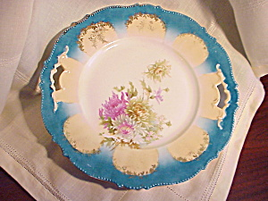 RS PRUSSIA MOLD 343 O.H. TURQUOISE PLATE (Image1)