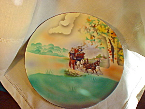 RS PRUSSIA PLATE STAGECOACH SCENE/BRIGHT (Image1)