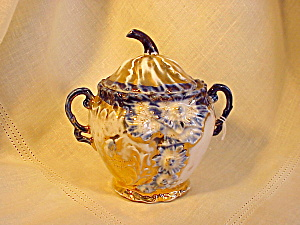 RS Prussia early years cobalt lidded sugar (Image1)