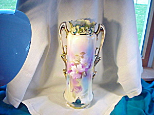 RS PRUSSIA ORNATE HUGE CLEMATIS VASE (Image1)