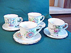 Japanese Children's set of cups and saucers (Image1)