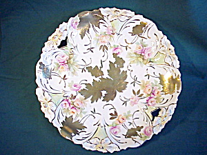 RS Prussia Lily Mold Impasto Gold o.h. Plate (Image1)