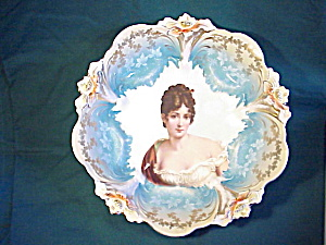 RS PRUSSIA lily mold b n b Racamier Bowl (Image1)