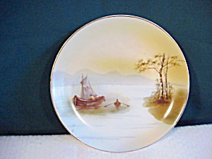 RS PRUSSIA hand painted scenic plate (Image1)