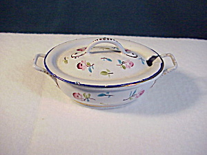 Exquisite Floral Granite Ware covered roaster (Image1)