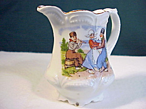 RS PRUSSIA(?) CHILD'S PITCHER W/DUTCH MOTIF (Image1)