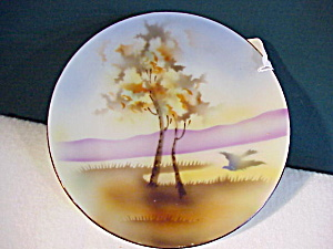 RS PRUSSIA Hand Painted Landscape Plate (Image1)