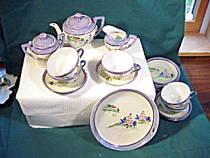 CHILD'S TEA SET W/PLATTER H.P. (Image1)