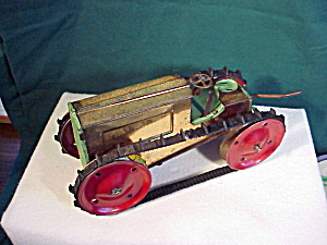 Animate Tin Windup Tractor-1916 Caterpillar