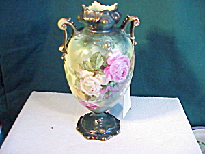 RS  PRUSSIA JEWELLED ORNATE VASE (Image1)