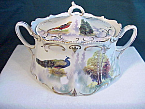 *RARE* RS PRUSSIA THREE SCENE CRACKER JAR (Image1)