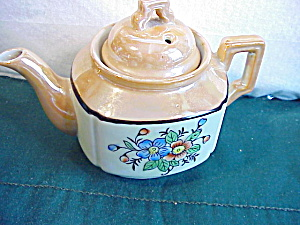 LUSTERWARE FLORAL CHILDS TEA POT - JAPAN (Image1)