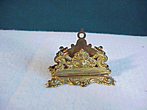 MINI BRASS LETTER HOLDER - ORNATE (Image1)