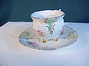 RS PRUSSIA DEMI CUP AND SAUCER W/GOLD (Image1)