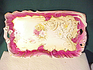 Rs Prussia Reticulated Magenta Dresser Tray