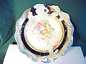 Rs Prussia Cobalt Hidden Image Bowl W/gold