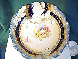 Rs Prussia Gobalt/gold Hidden Image Bowl