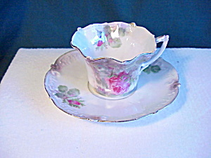 RS PRUSSIA LUMINESCENT FLUTED TEA CUP/SAUCER (Image1)