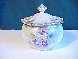 MINT RS PRUSSIA FLUTED POWDER JAR W/LID (Image1)