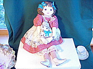 ADORABLE CLOTH DOLL WITH LAMB (Image1)