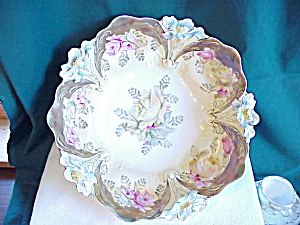 RS PRUSSIA LILY MOLD BOWL W/GOLD-GOLD (Image1)